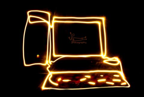 light painted PC...