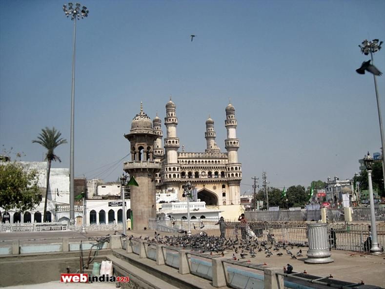 A view from Mecca Masjid, Hyderabad.