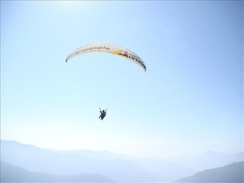Paragliding..