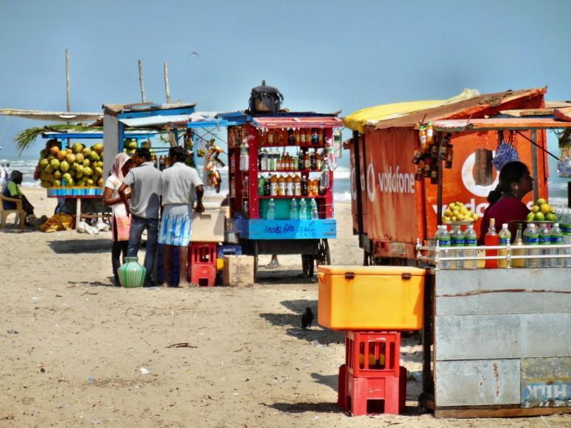 Vendors at beach