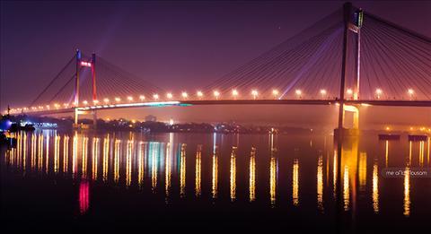 An Evening At 2nd Hoogly Bridge, Kolkata