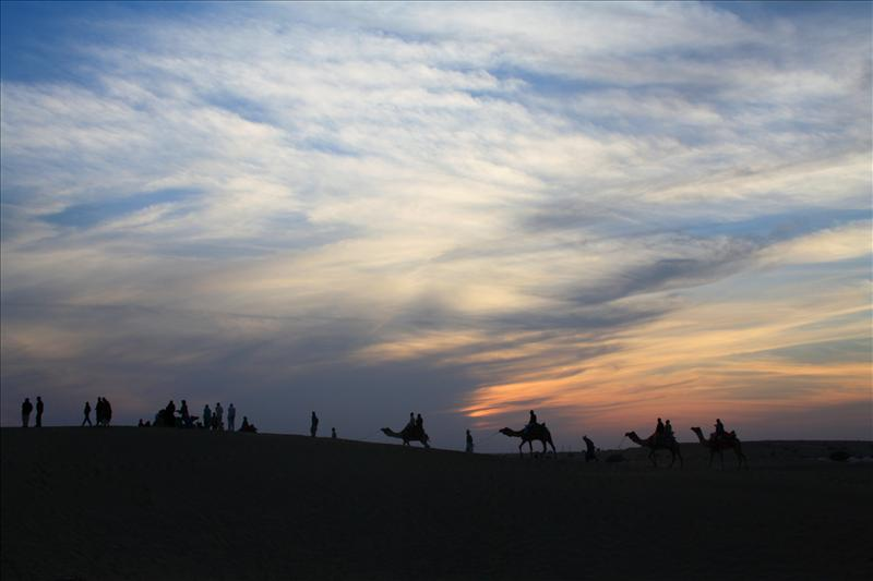 Sunset at Sam Dunes