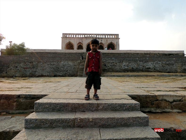 Kichu infront of Taramati Baradari