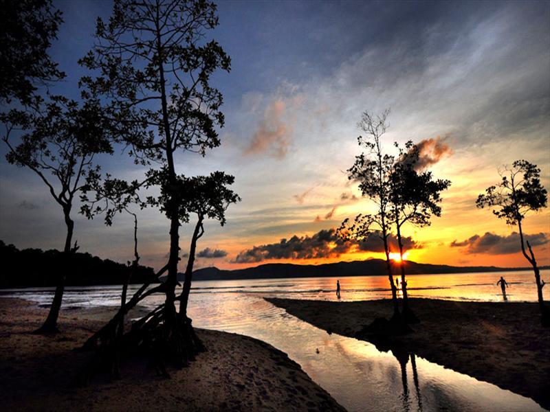 Sun set at Port Blair