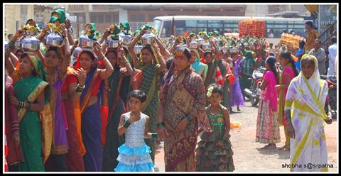 Women in procession
