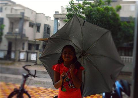 A girl in Rain