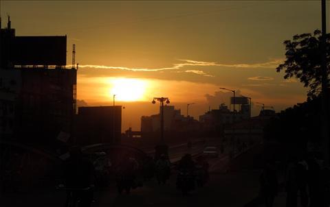 sunset of ellis bridge