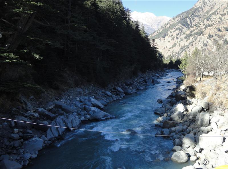 the flow of river bhagirathi