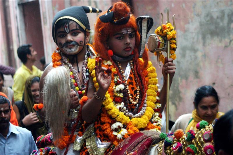 Procession on Maha Shivratri in Varanasi