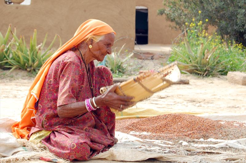 OLD VILLAGE WOMAN