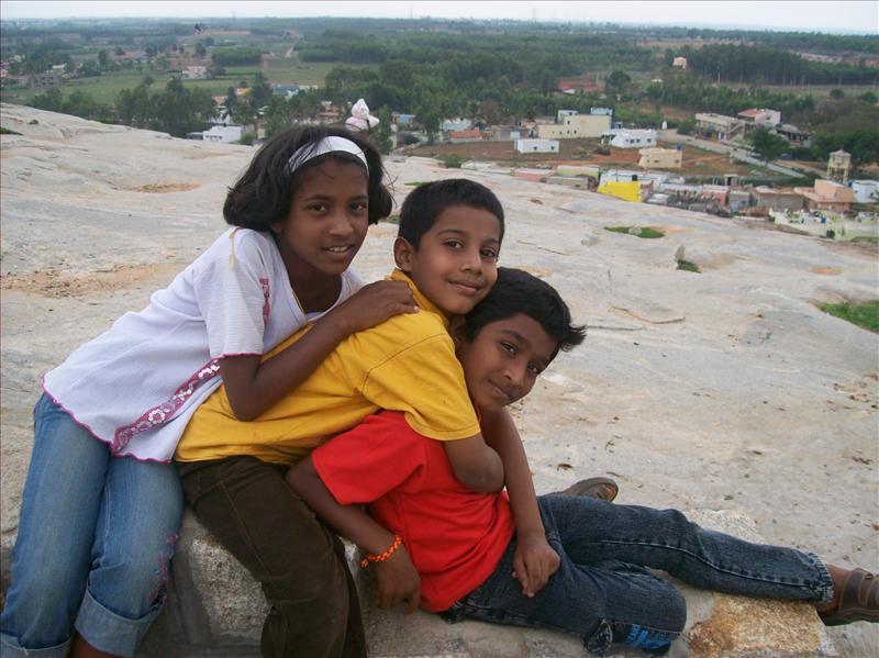 Children on hill