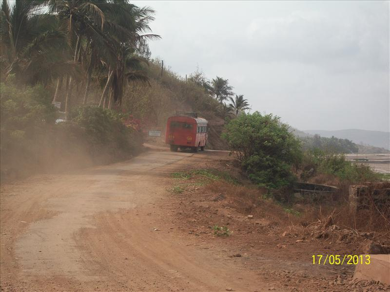 dusty road along the Arabian coast.