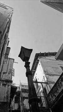 This picture was taken during a heritage walk in old city of Ahmedabad. This is a cluster of traditional pol houses.
