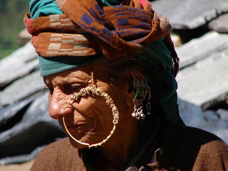 a garhwali old woman