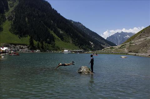 Lake in Sonamarg hill station