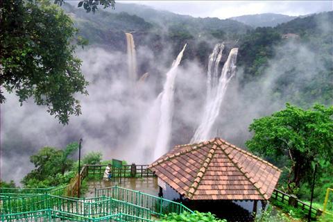 Jog Falls in Shimoga, Karnataka after heavy rains