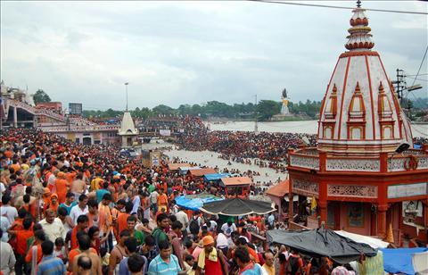 Kanwariyas at Haridwar