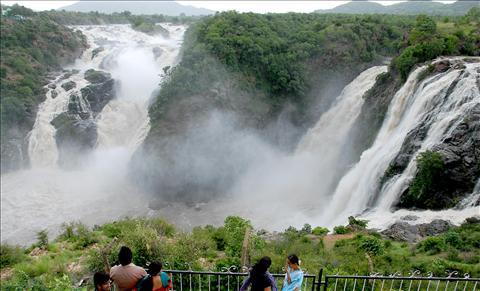 Gaganachukki waterfall in Mandya district, Karnataka