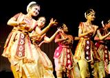 Artists perform at Rabindra Bhawan in Guwahati
