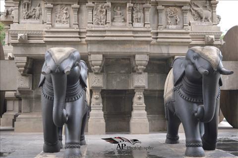 Valluvar Kootam chariot Elephant