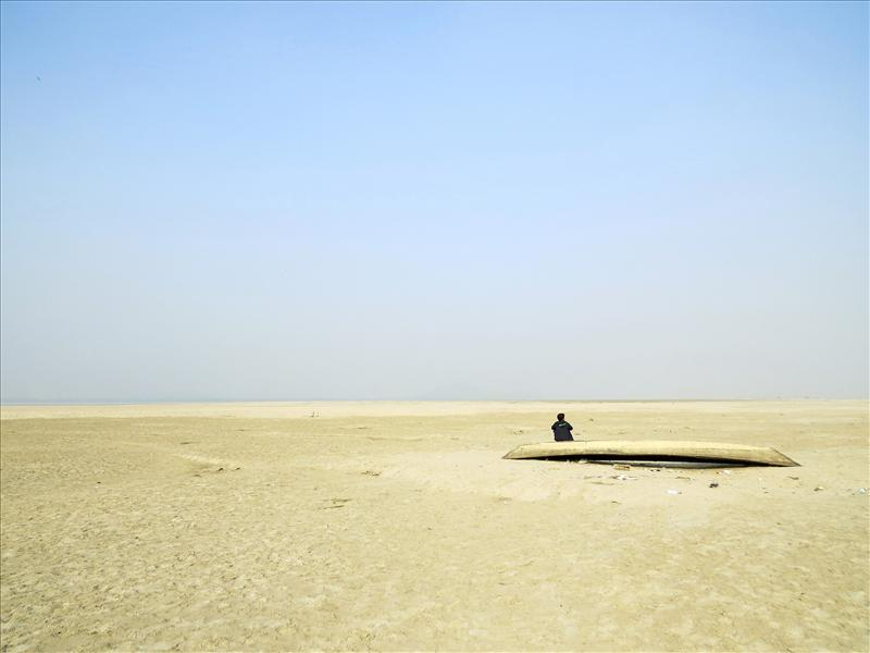 The Loner by the White Sands of Brahmaputra