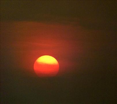 Sun set at Alappuzha