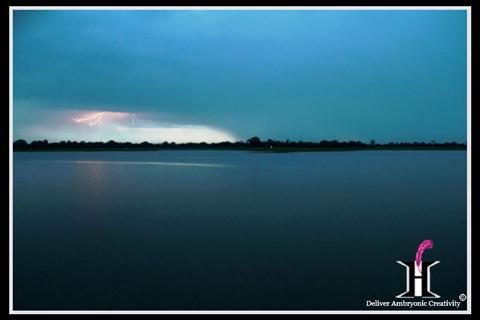 lightning evening sky