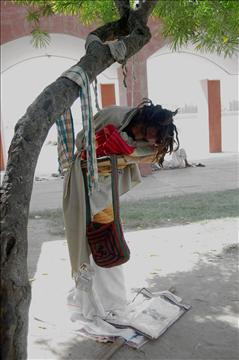 A sadhu in meditation