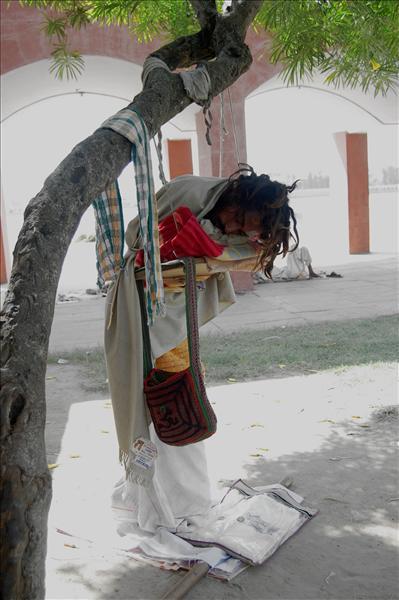 A sadhu in meditation