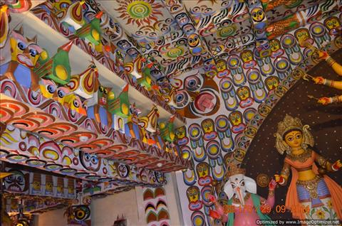 Colours of Pujo Pandals