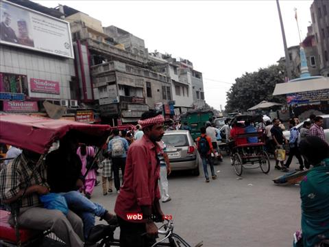 Busy Street Life Of Chandni Chowk