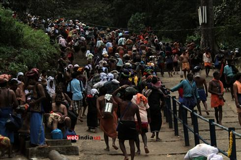 Pilgrims at Sabarimala
