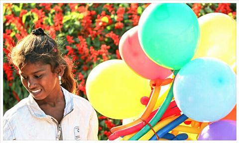 a Balloon Seller Girl