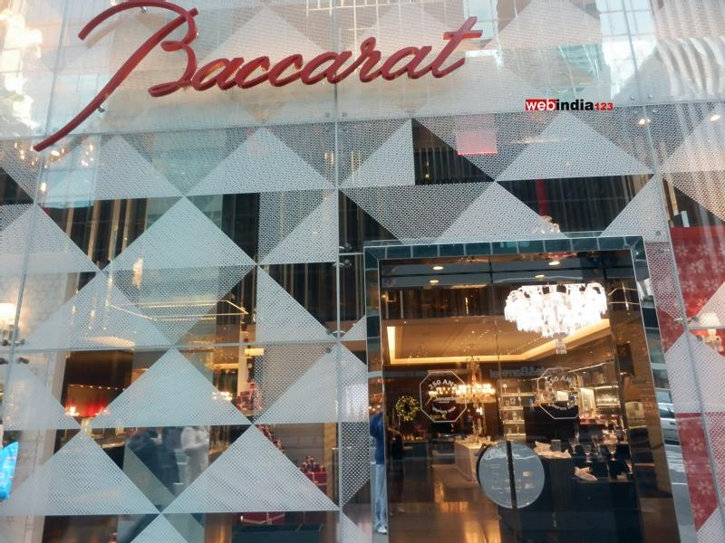 The facade of Baccarat's new Manhattan flagship