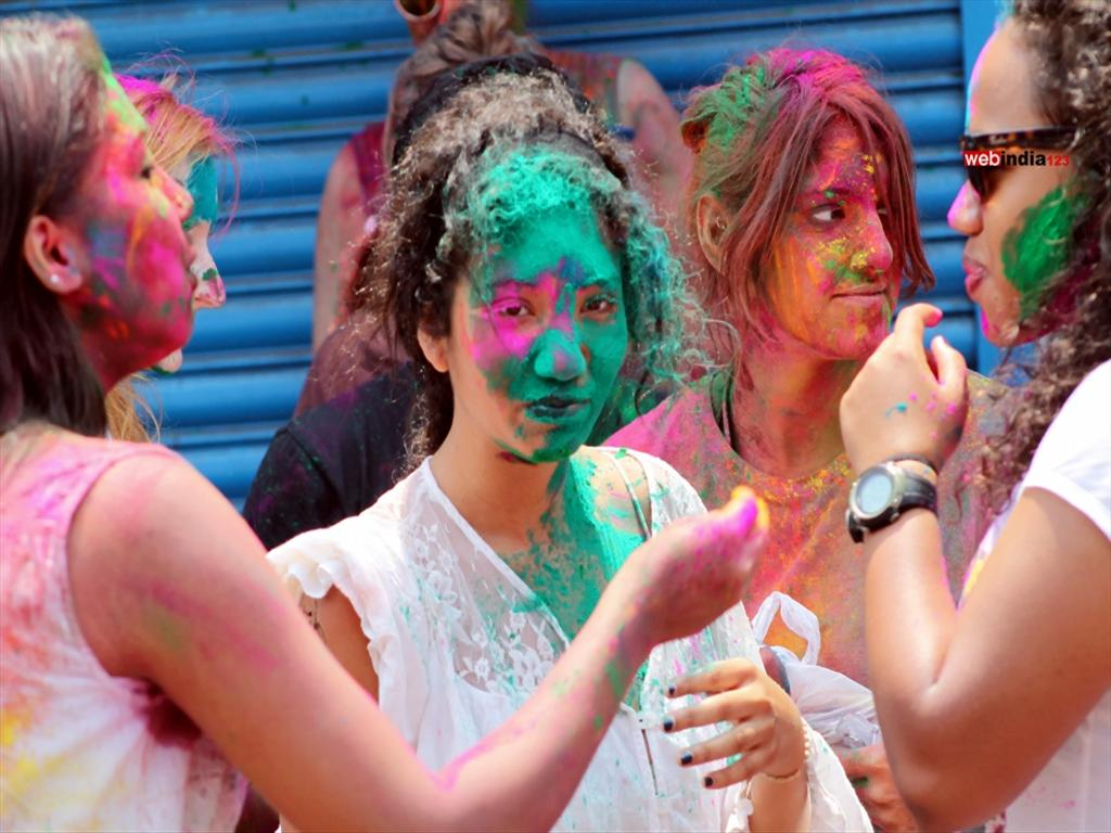 A still from a Holi celebration in Mattancherry