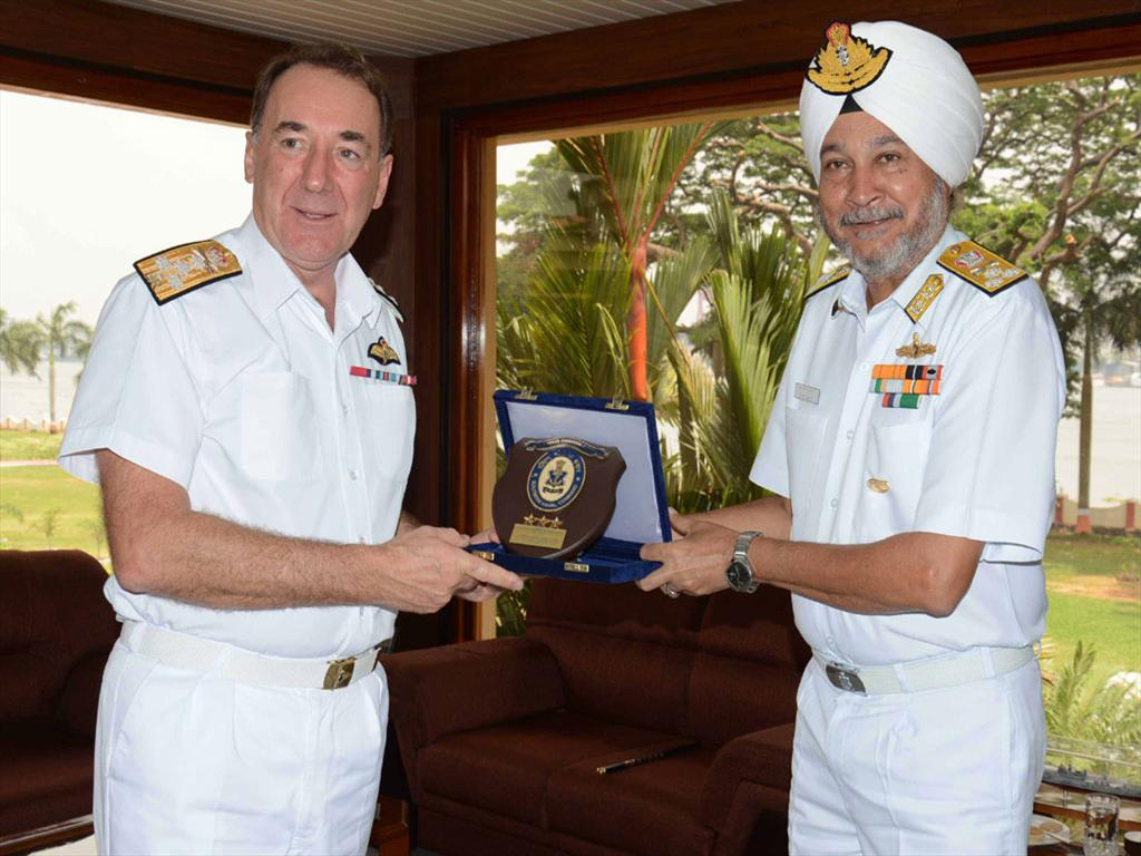 First Sea Lord of Royal Navy on a visit to Kochi