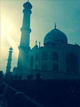 Taj mahal in late afternoon