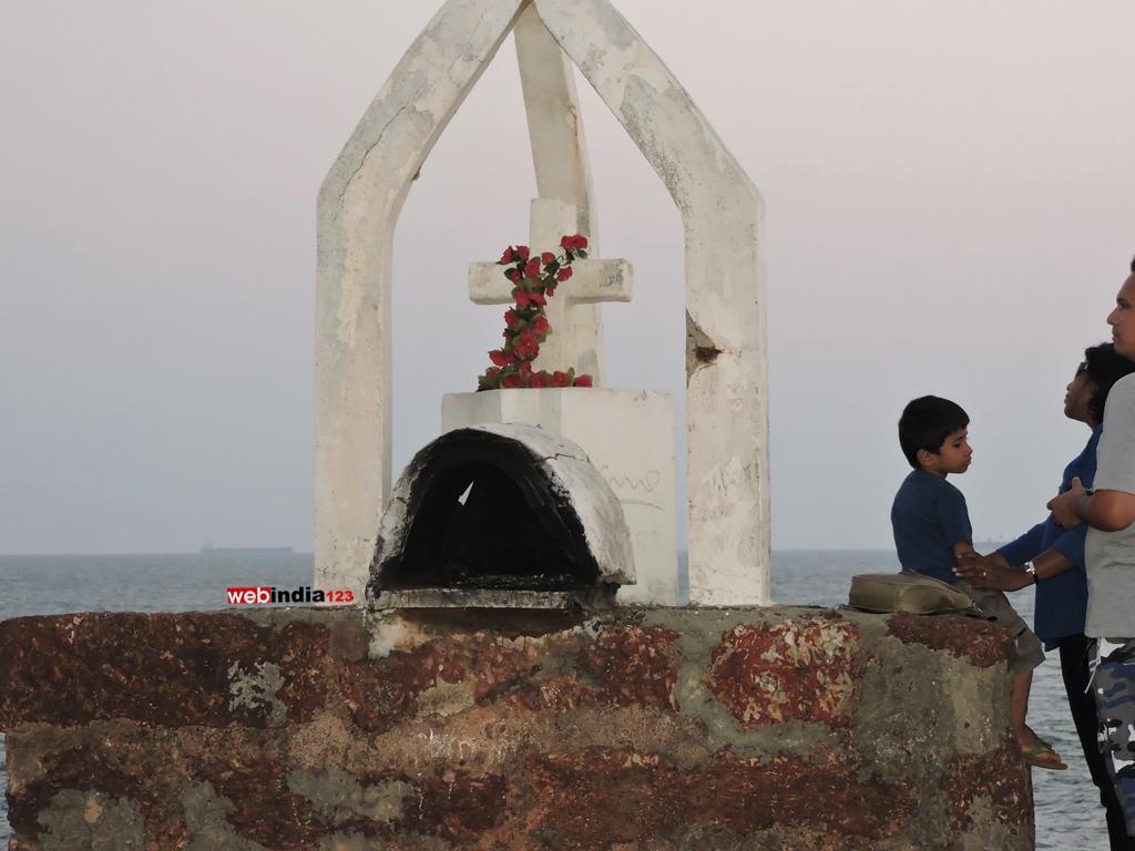 Cross scene in Aguada Fort, Goa
