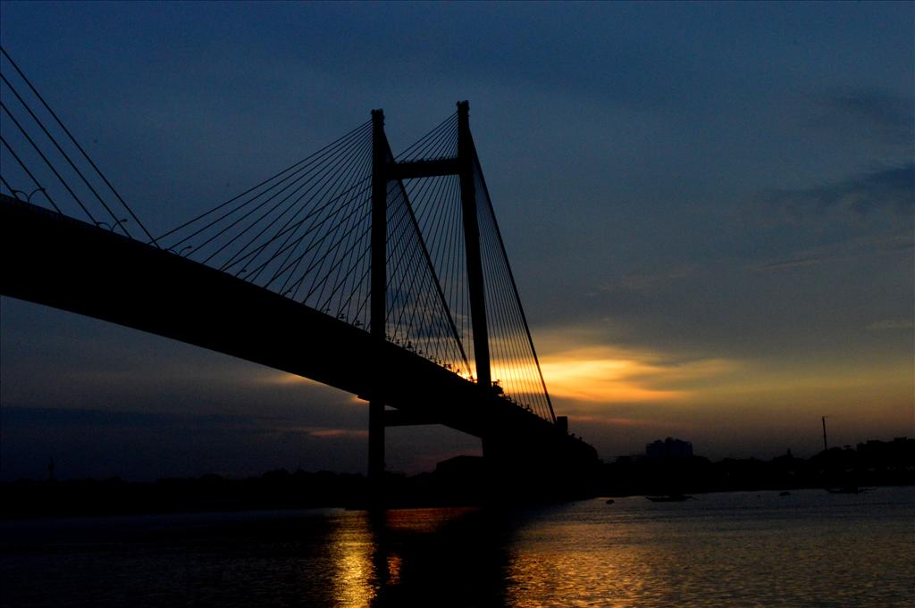 sunset at the hooghly
