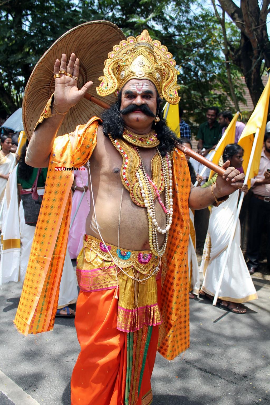 Maveli at Tripunithura Athachamayam
