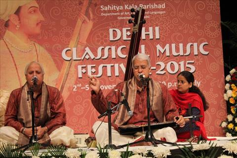 Pt. Rajan-Sajan Mishra & Pt Hariprasad Chaurasia at Delhi Classical Music Festival