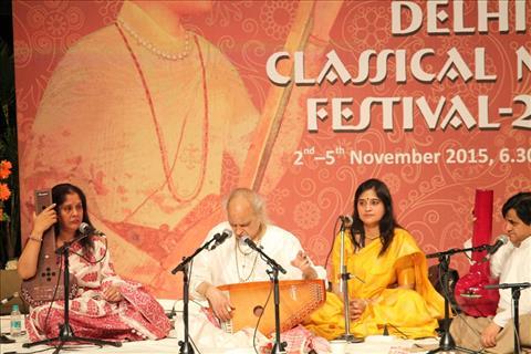 Pandit Jasraj at Delhi Classical Music Festival 2015