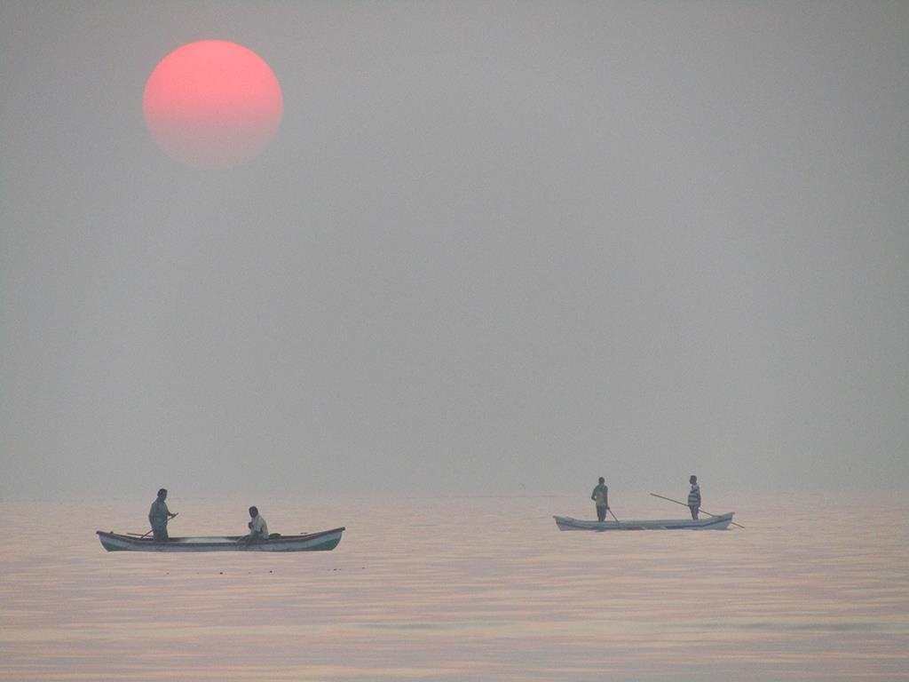 Sun Set Juhu beach Chaupati