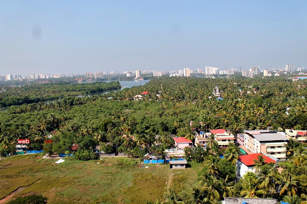Aerial view of Kochi