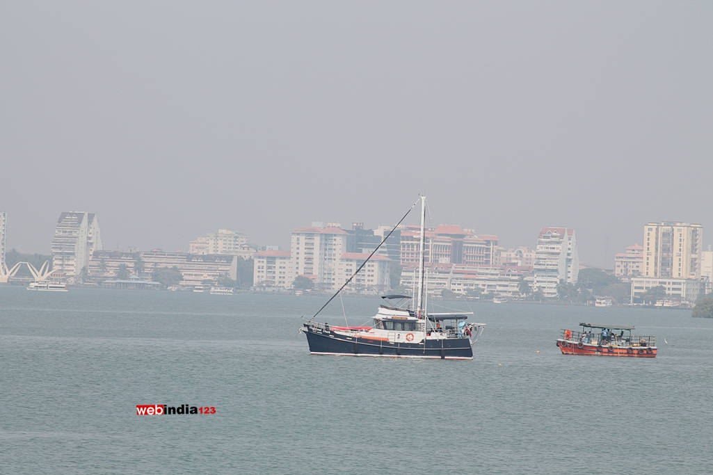 A scene from Kochi Marine Drive