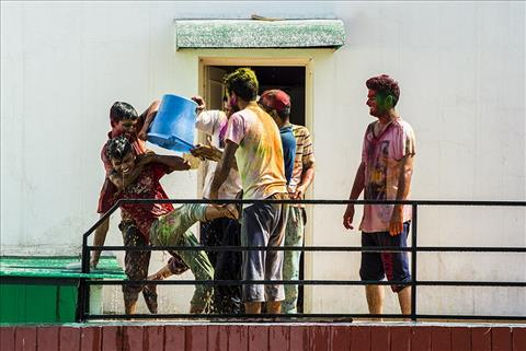 Boys Holi Fun