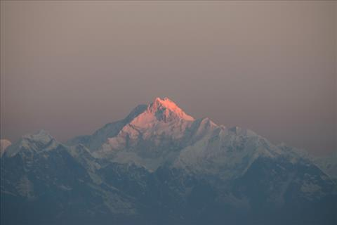 first ray on Kanchenjunga