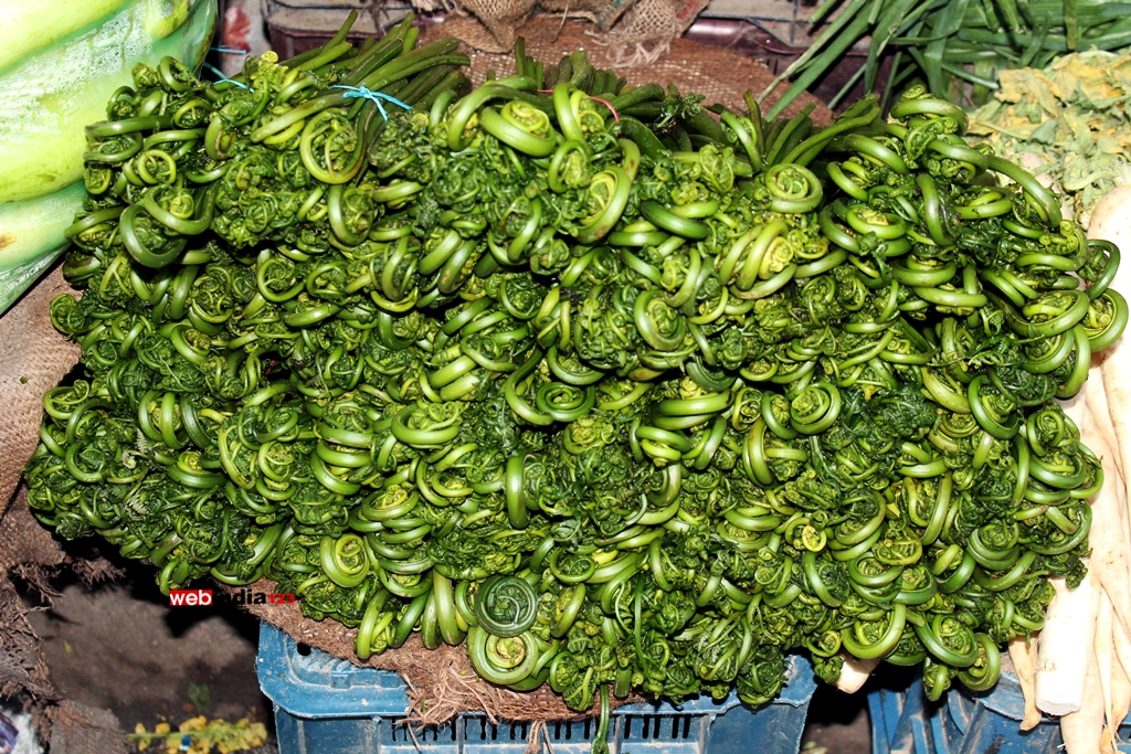 Vegetables for sale at a market in Manali