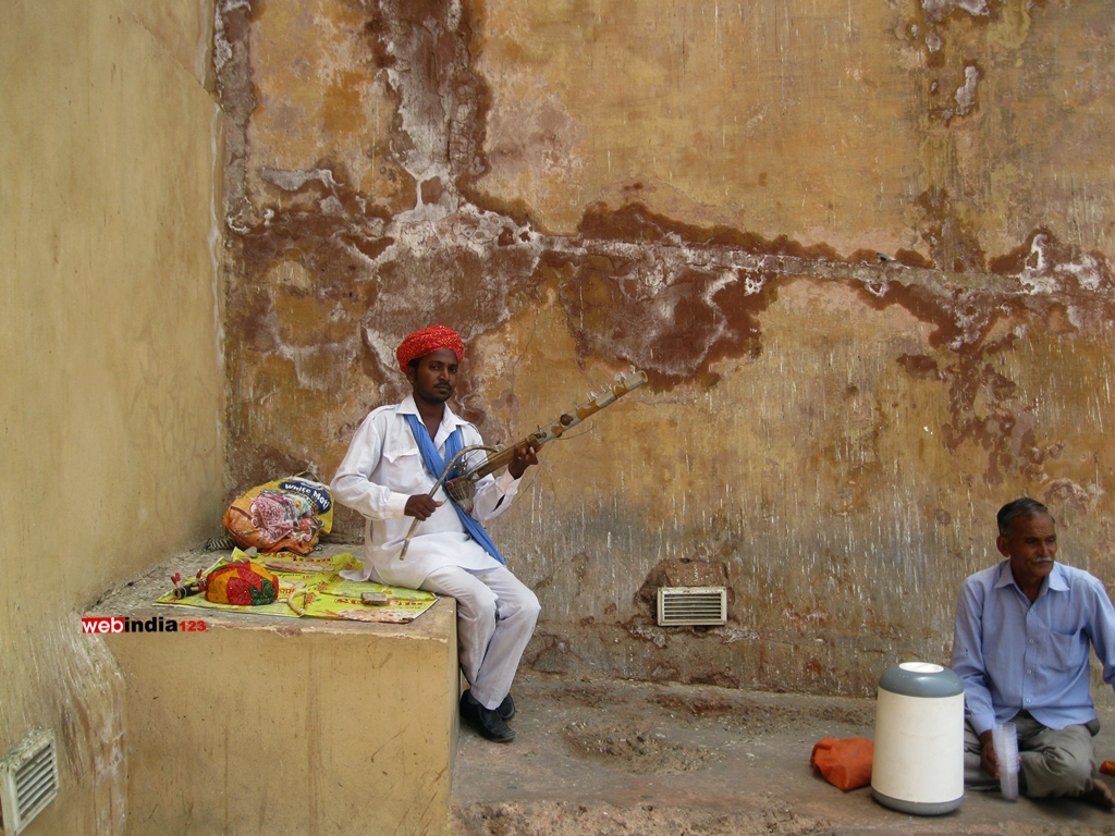 Traditional Rajasthani Man at Amer Fort