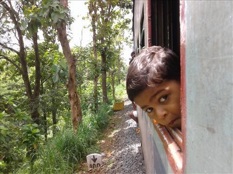 Travelling in a Nilambur train